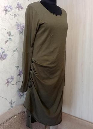 Платье хаки rundholz dip гранж
