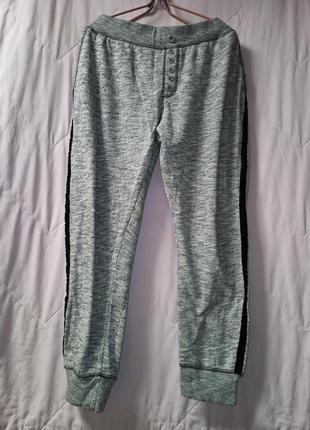 Теплые меланжевые спортивные штаны-52-56разм.,janina.