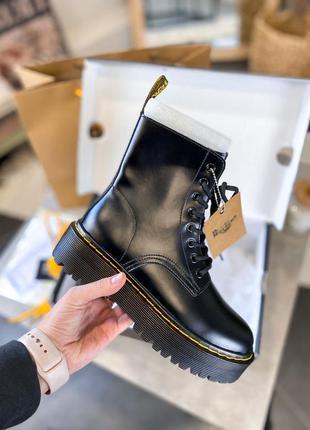 Ботинки кожаные dr martens jadon black