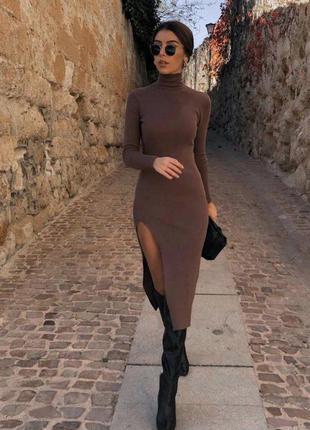 Платье женское с разрезом до бедра