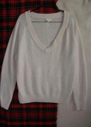 Расслабленный  теплый джемпер пуловер оверсайз