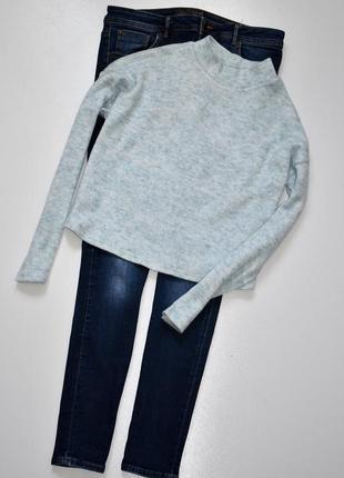 Sale new look стильный меланжевый джемпер с воротом стойкой,кроп джемпер