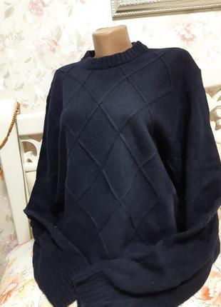 Теплый свитер, темно синий
