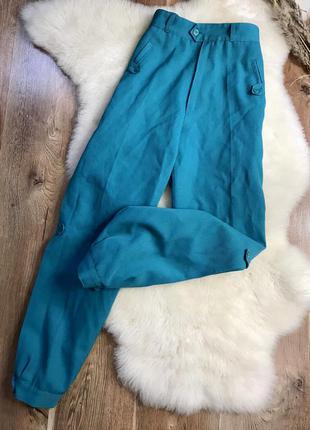 Шикарные брюки карго аквамаринового цвета