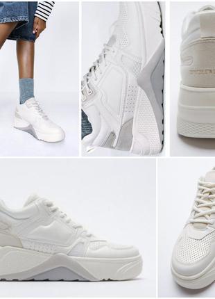 Zara одна из самых трендовых моделей высоких белых кроссовок.  очень крутые.