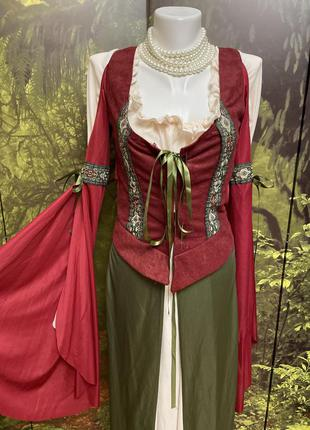 Карнавальное платье косплей баварский костюм дырндль готика готическое  хеллоуин хэллоуин