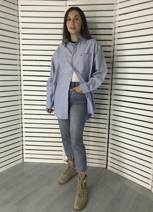 Плотные прямые джинсы