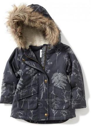 Куртка парка демисезонная олд неви old navy 2-3(91-99см)