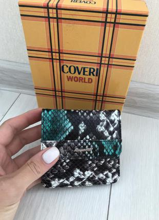 Женский кошелёк портмоне coveri world кожа