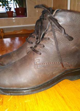 Кожаные ботинки ecco, сапоги, сапожки ecco