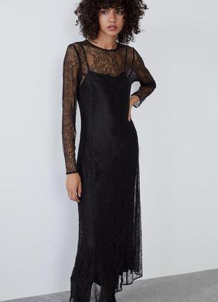 Кружевное платье zara