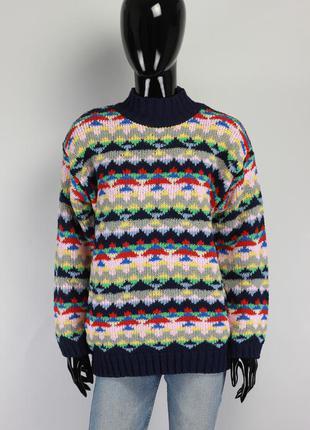 Вязаный свитер оверсайз свободного кроя