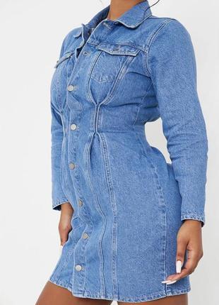Новое трендовое джинсовое платье рубашка plt
