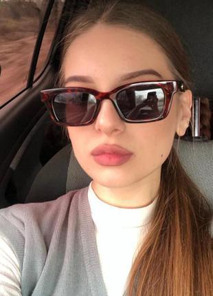 Тренд новые солнцезащитные очки ретро стиль wayfarer леопардовые анималистические окуляри сонцезахисні