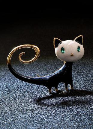Брошь-кулон 2в1 значок котик / большая распродажа!