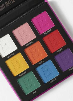 """Палетка теней beauty bay """"bright matte"""" 9 colour palette"""