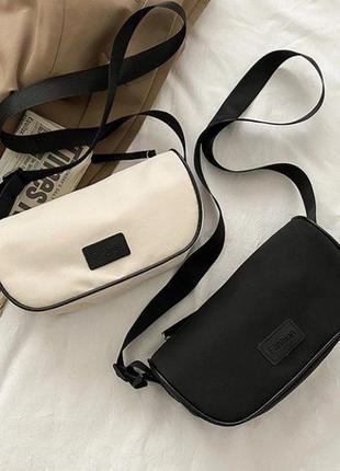 Нейлонова сумка жіноча чорна