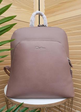 Стильный пудровый женский рюкзак городской  david jones original 5300