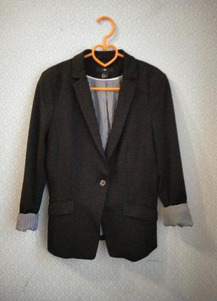 Базовый пиджак удлиненный блейзер