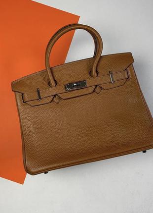 Оригинальная кожаная сумка hermès paris togo birkin клатч портфель ранец