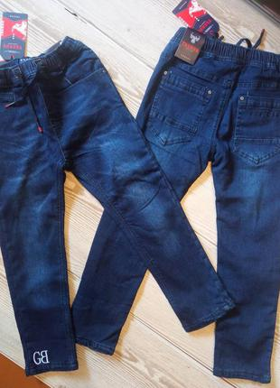Детские теплые джинсы на завязках венгрия taurus 110/116