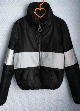 Куртка дутик пуфер зефирка с рефлективной вставкой светоотражающей