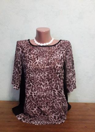 Легкая шифоновая блуза футболка