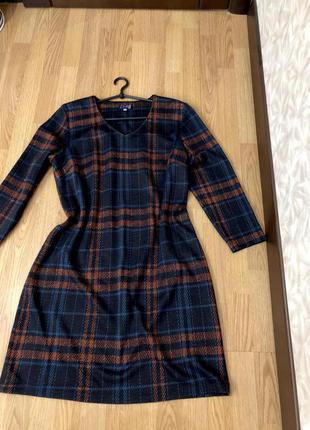 Тёплое брендвое платье caro р-р 52-54 наш. супер!
