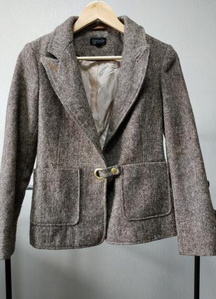 Пиджак жакет шерсть коричневый topshop