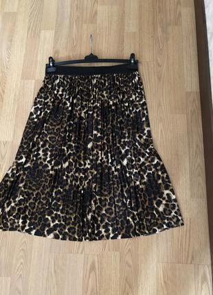 Стильная юбка-плиссе миди. новая р-р 48-52