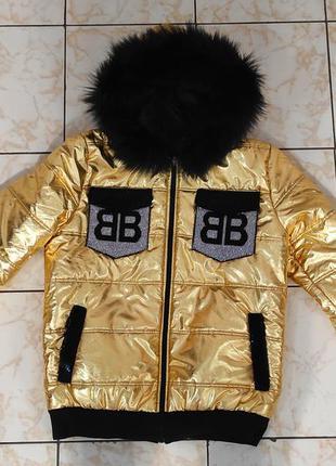 Куртка золотого цвета турция