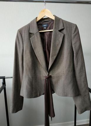 Пиджак жакет укороченный коричневый mexx