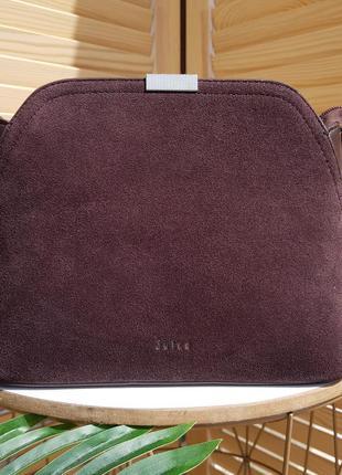 Бесплатная доставка красивая замшевая сумка коричневая кроссбоди на каждый день замшевый клатч