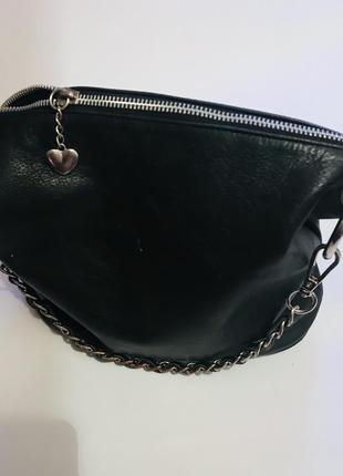 Чёрная кожаная сумка 😍
