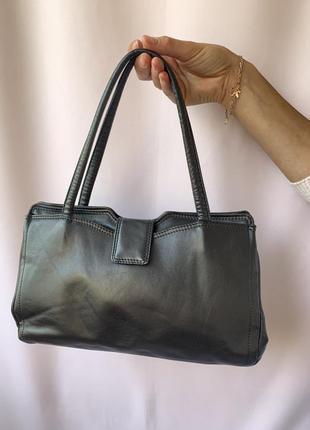 Вінтажна шкіряна сумка