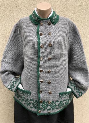 Винтаж,шерсть кардиган,жакет,пиджак,кофта,этно стиль,эксклюзив,большой размер,этно