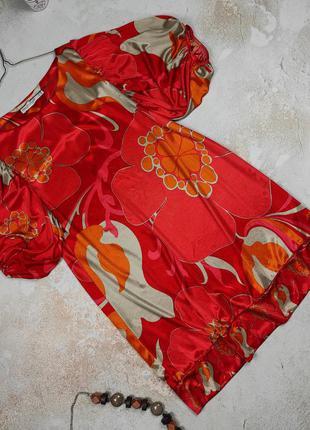 Платье мини привлекательное оригинальное с объемными рукавами zara m