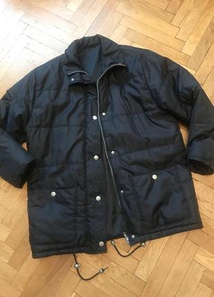 Демисезонная куртка, болоньевая, на синтепоне, весенняя,чёрная,c&a