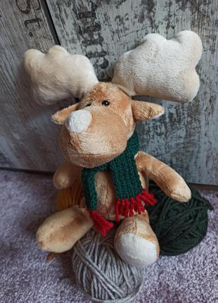 """Плюшевая игрушка """"оленёнок в шарфике"""""""