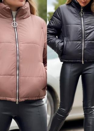 Распродажа куртка демисезон мокко чёрная