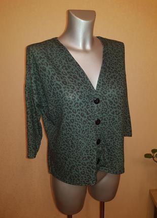Бесплатная доставка ❤   блуза на пуговицах зеленый леопард
