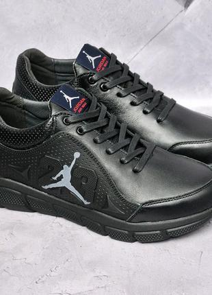 Jordan кожаные кроссовки
