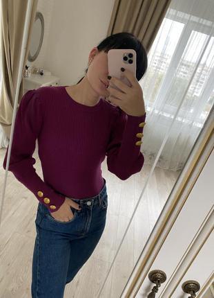 Укорочённый свитер кофта топ zara