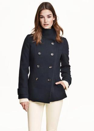 Черное пальто пиджак жакет полупальто стильное модное h&m трендовое классное