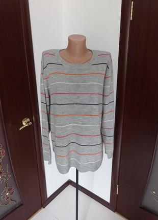 Стильный базовый свитер/джемпер большой размер 18-20рр.