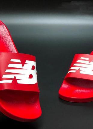 Чоловічі шльопанці, якісні, зручні, надійні,мягкі new balance  червоні