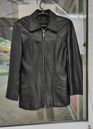 Куртка плащ пиджак кожаный