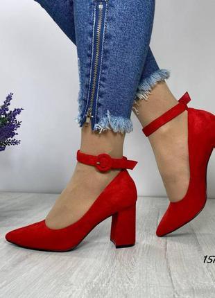 Распродажа! красные туфли с ремешком