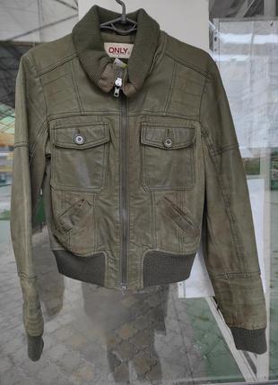 Куртка осенняя кожаная