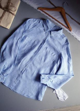 Льняная рубашка с длинным рукавом m l xl
